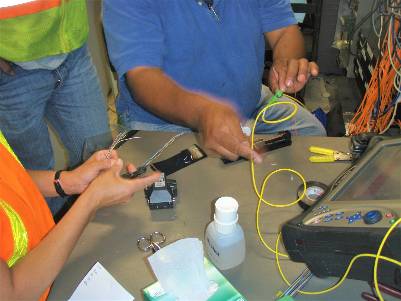 0TDR Testing and fusion splicing1